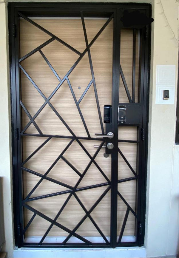 HDB Metal Gates - SH027 Naturalist Geometric Fractal Designed - Metal and Aluminium Fabrication