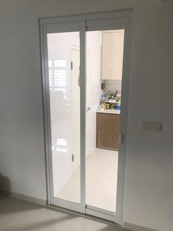 Swing and Slide Toilet Door - AWC004 - Metal and Aluminium Fabrication