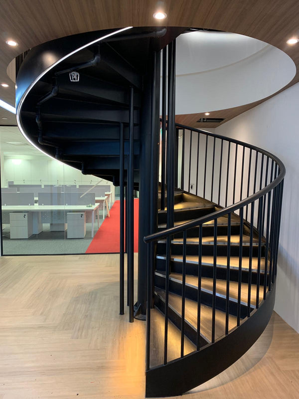 SR011 - Spiral Staircase and Staircase Railings - Metal and Aluminium Fabrication