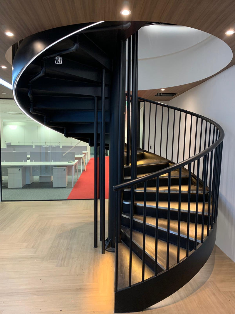 Staircase Railings with Glass Panel - SR001