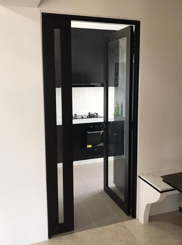 GD006 - Casement Glass Doors with Aluminium Frame - Metal and Aluminium Fabrication