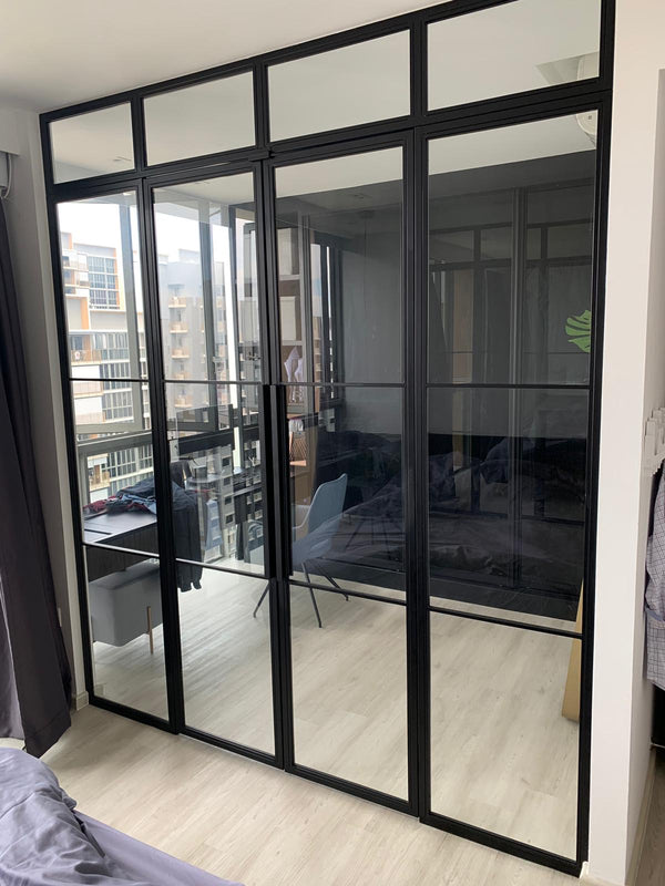 GD003 - Casement Glass Doors with Mild-Steel Frame - Metal and Aluminium Fabrication