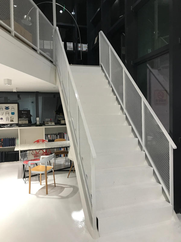 SR007 - Mesh-Block Staircase Railings - Metal and Aluminium Fabrication