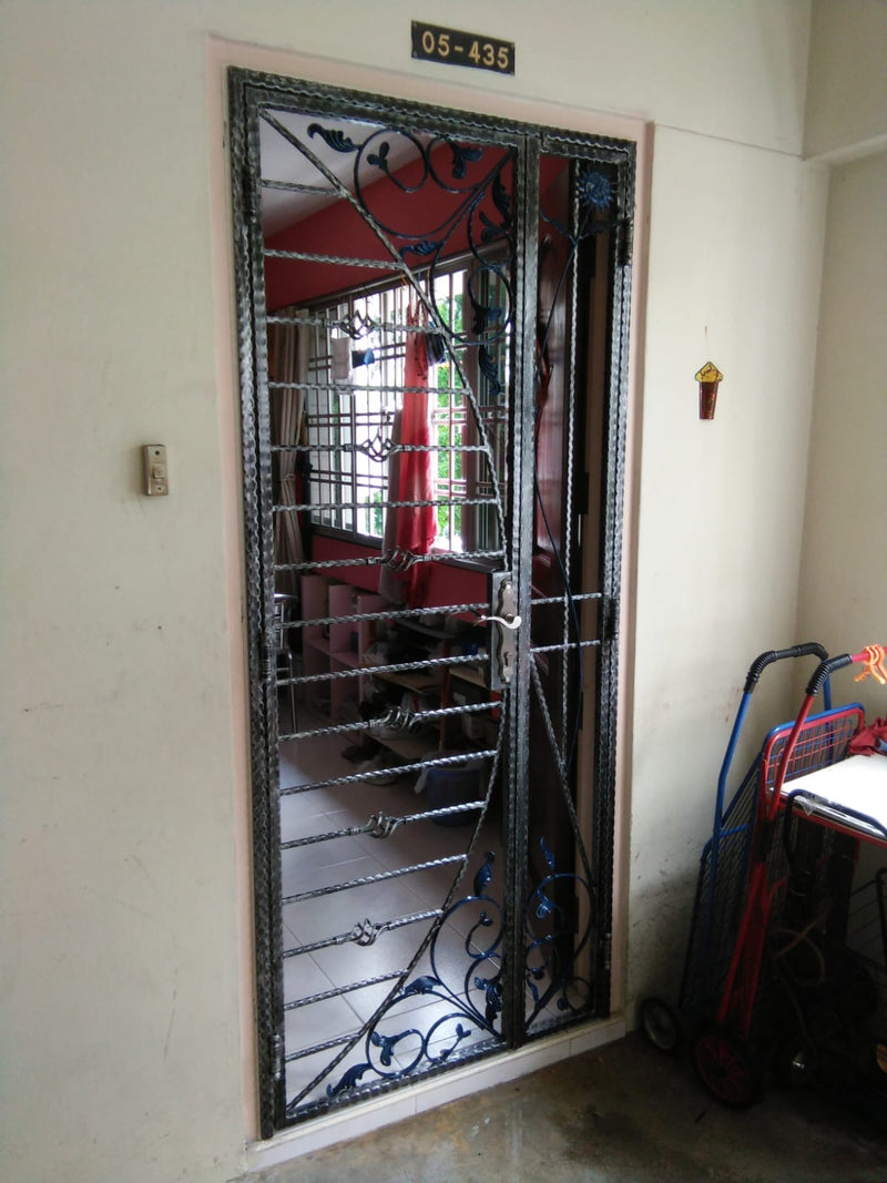 Wrought Iron Gate - WR004 - Metal and Aluminium Fabrication