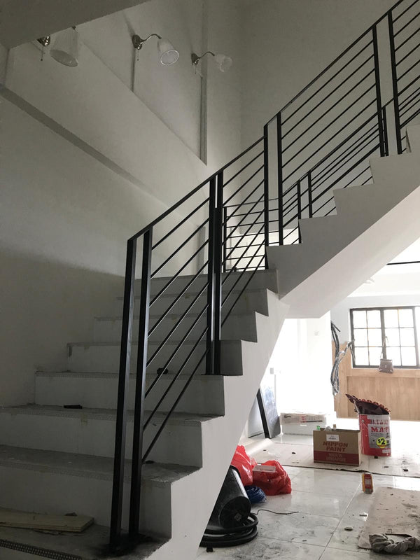 SR003 - Ladder-Styled Staircase Railings - Metal and Aluminium Fabrication