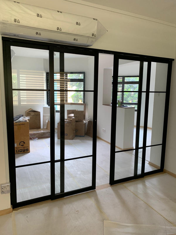 GD005 - Sliding Glass Doors with Aluminium Frame - Metal and Aluminium Fabrication