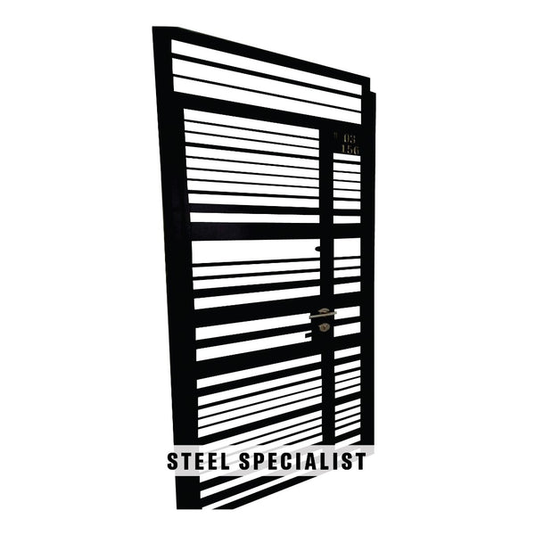 HDB Gate - SH001 Modern Horizontal Uneven-Cut Grille - Metal and Aluminium Fabrication