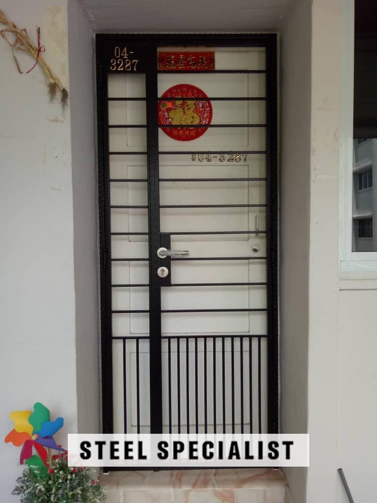 HDB Gate - SH046 Basic Opposite-Styled Grille - Metal and Aluminium Fabrication