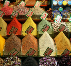 spice display in souk