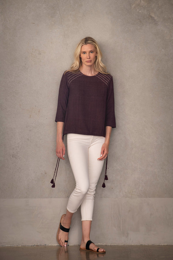 Handmade Blouse - Sustainable Fashion by Souk Indigo
