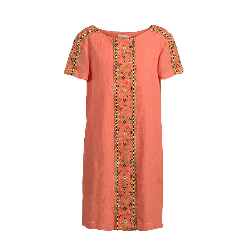 Emily Embroidered Gauze Dress