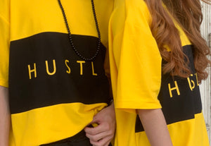 Hustle Yellow Oversized Tee