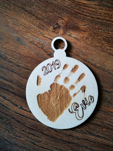 Handprint/Footprint Bauble
