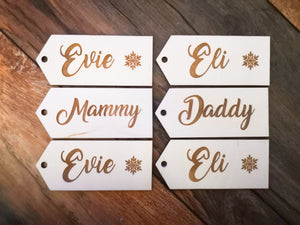 Personalised Name Tags