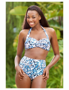 JACQUELINE ANIMAL SKY HIGH WAISTED BIKINI 6528