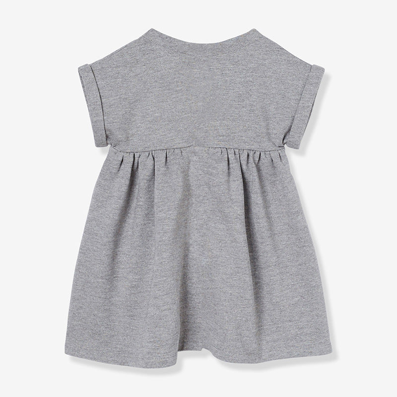 Dresses classic cotton girls short-sleeved