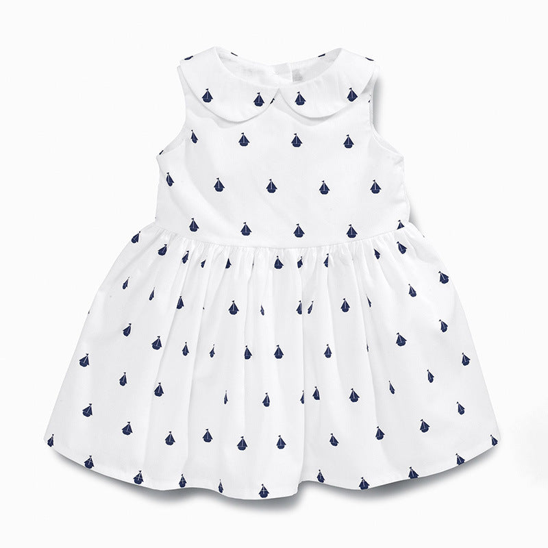 Girls' Dresses Cotton Print Sleeveless
