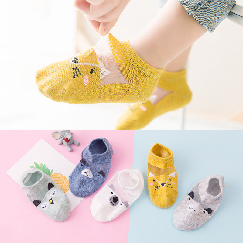 Children's socks mesh boat