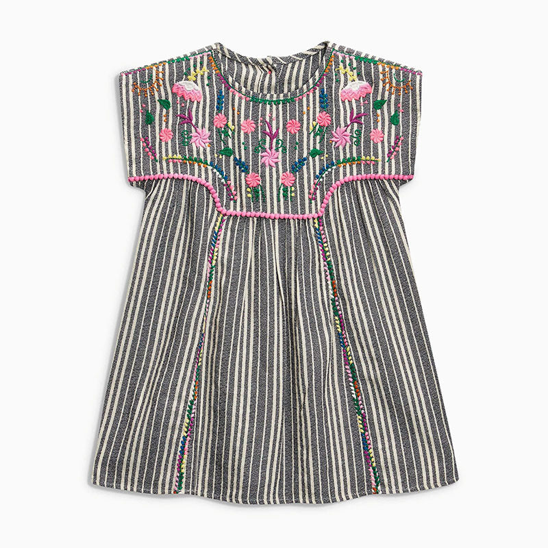 Girls' Dresses Wear Cotton Sleeve