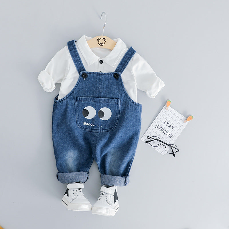 Pants set baby bib two-piece