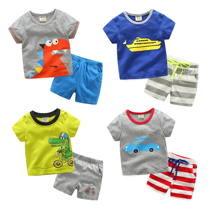 Set children's clothing short-sleeved t-shirt