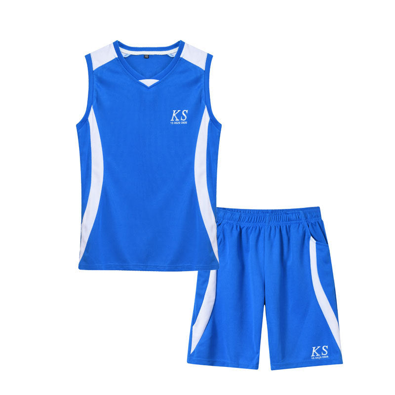 Children's sportswear sleeveless vest shorts basketball clothing two-piece