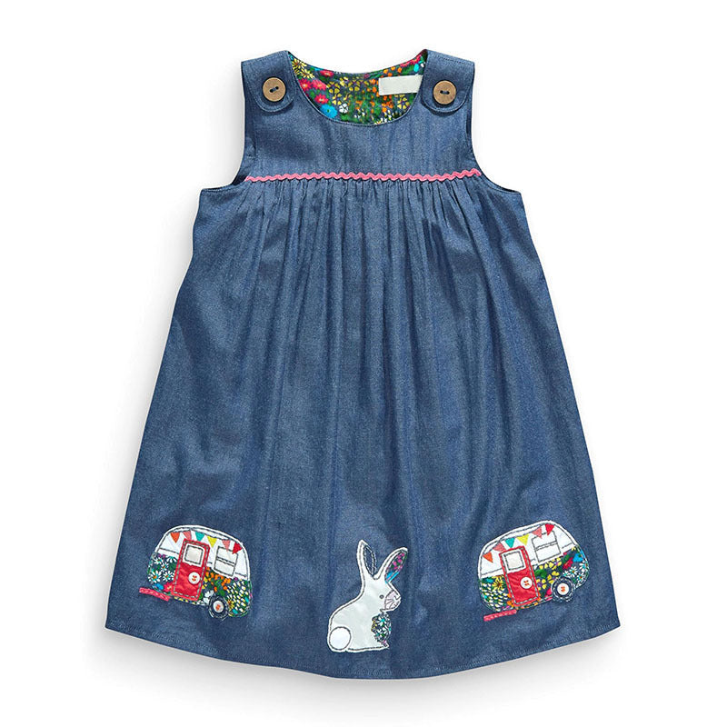 Sleeveless Dress Wear Girls Cotton