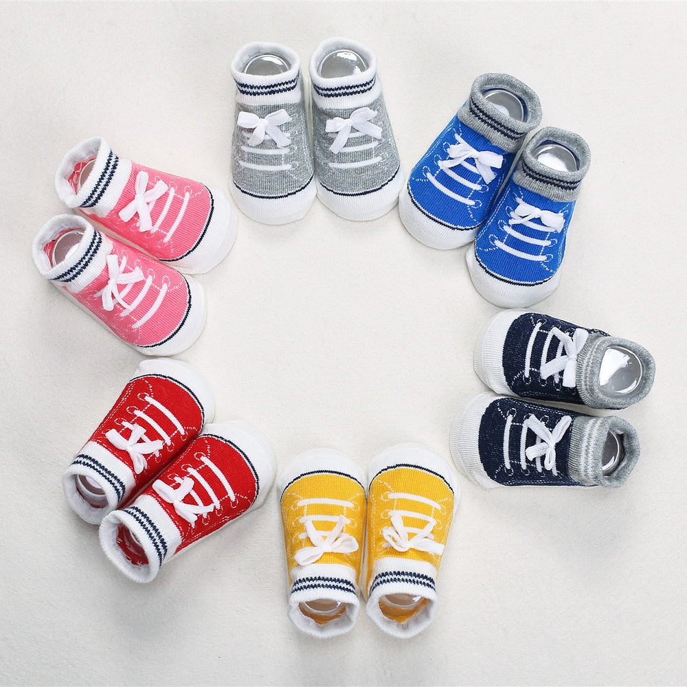 Three-dimensional shoes baby cotton silicone non-slip