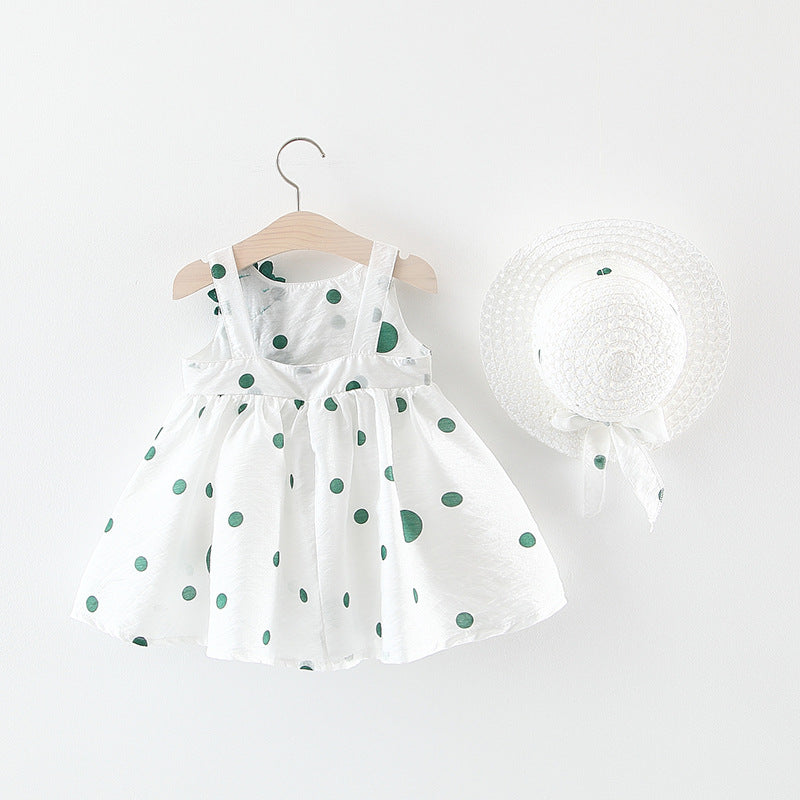 Dress flower polka dot
