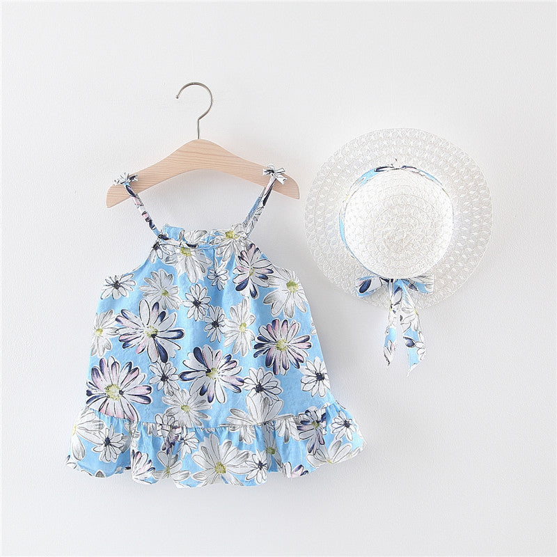 Dress with hat small children's skirt