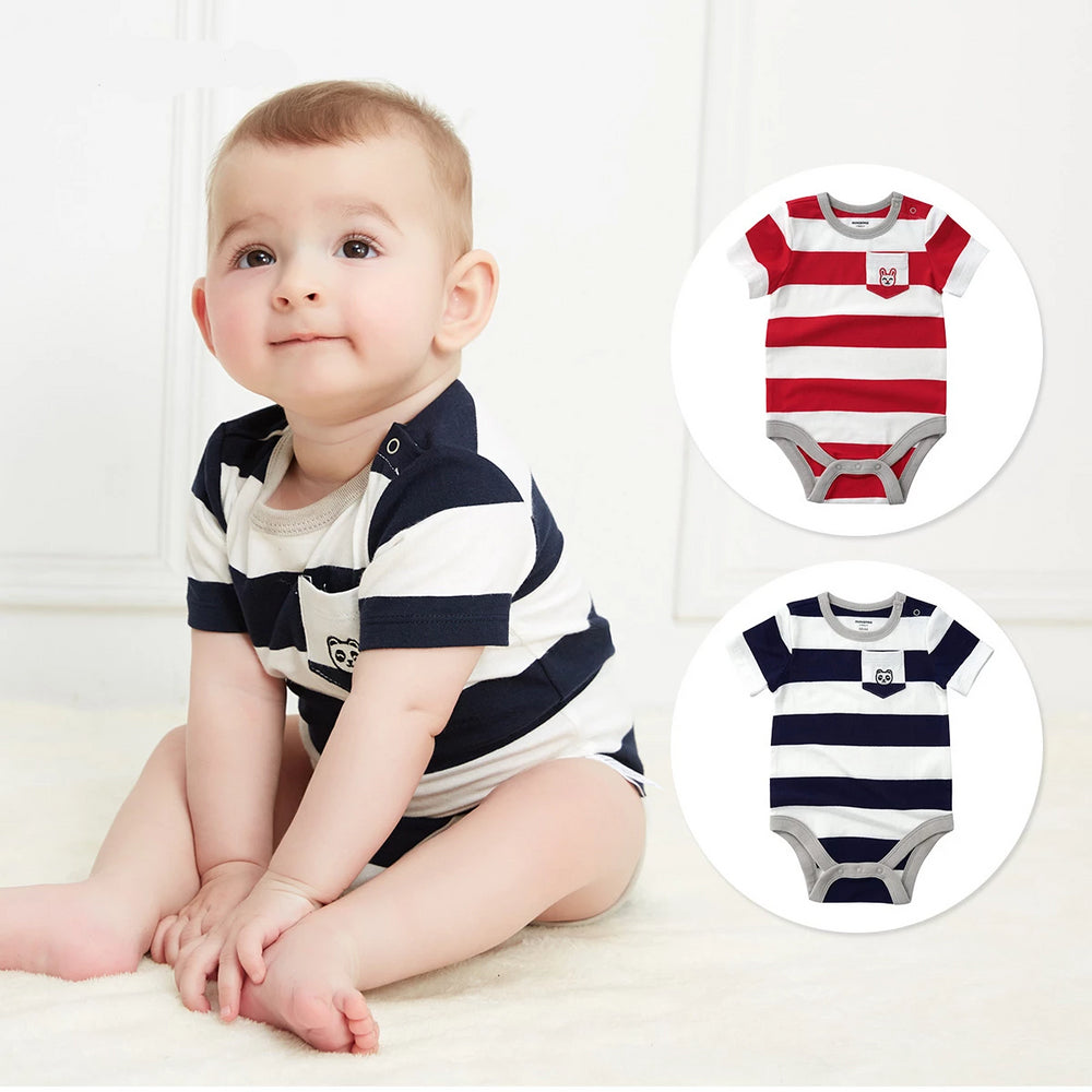 Bodysuits Short Sleeve One Piece Cotton