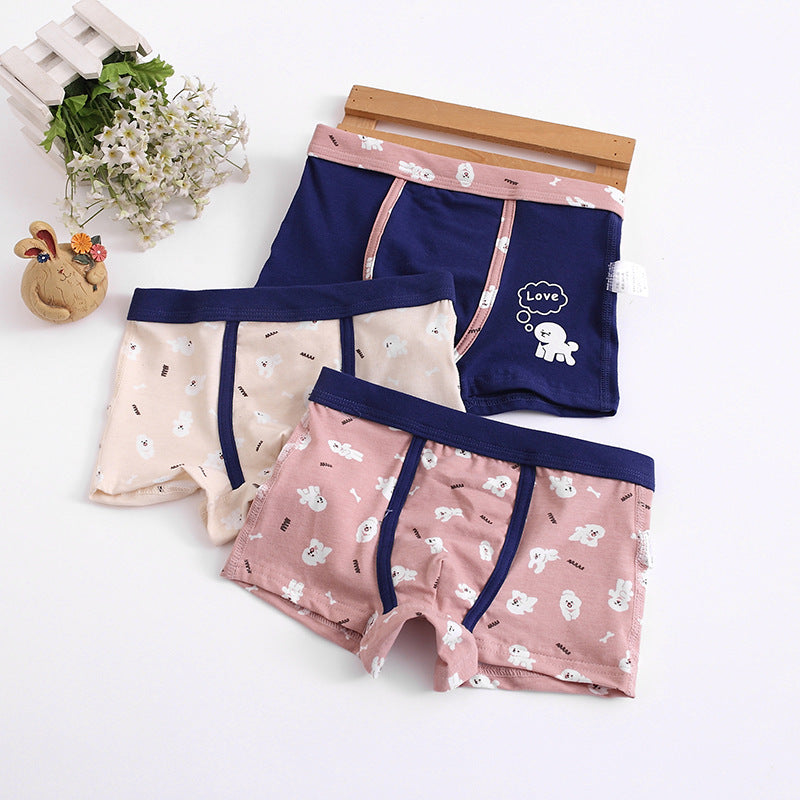 Children's underwear boxer cartoon