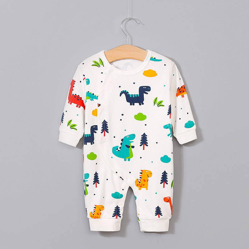 Newborn robes infant dinosaur