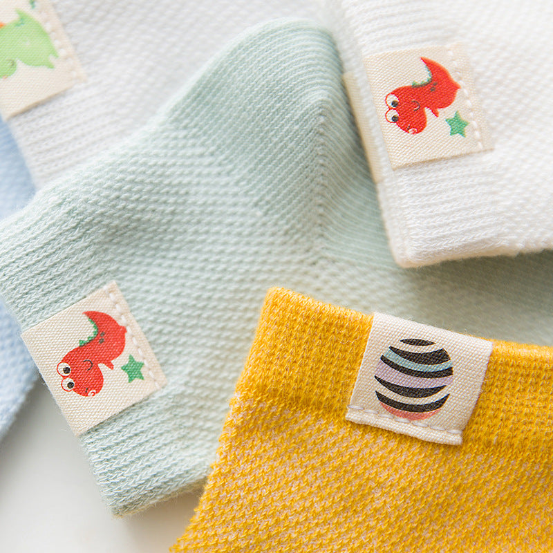 Thin cotton baby socks children's