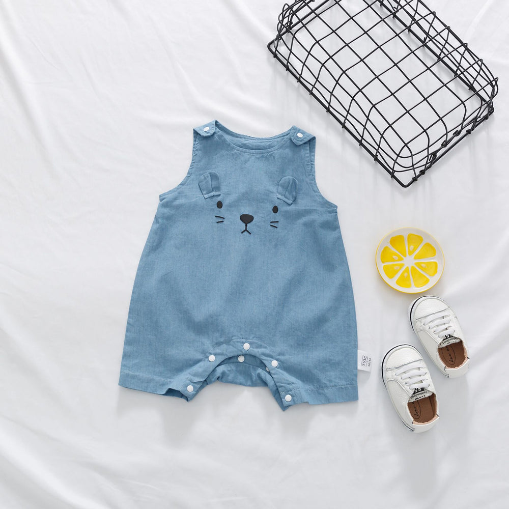 Body sleeveless child with cat printed