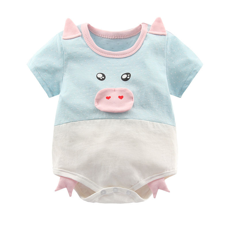 Bodysuits Baby cartoon short-sleeved cotton