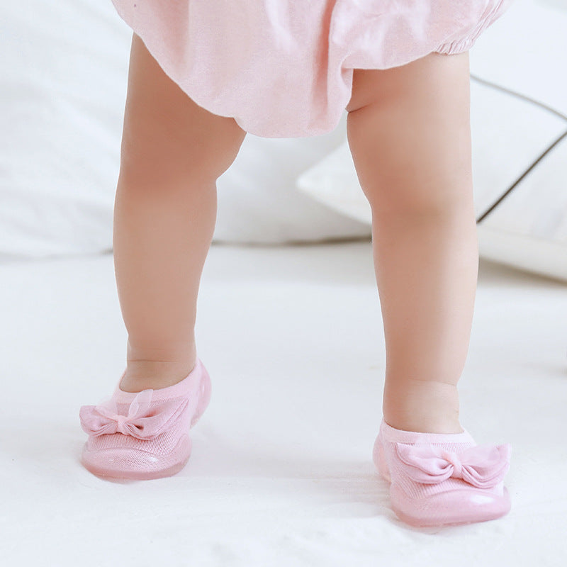 Anti-slip rubber bottom toddler shoes