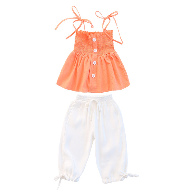 Girls suits two-piece camisole pant