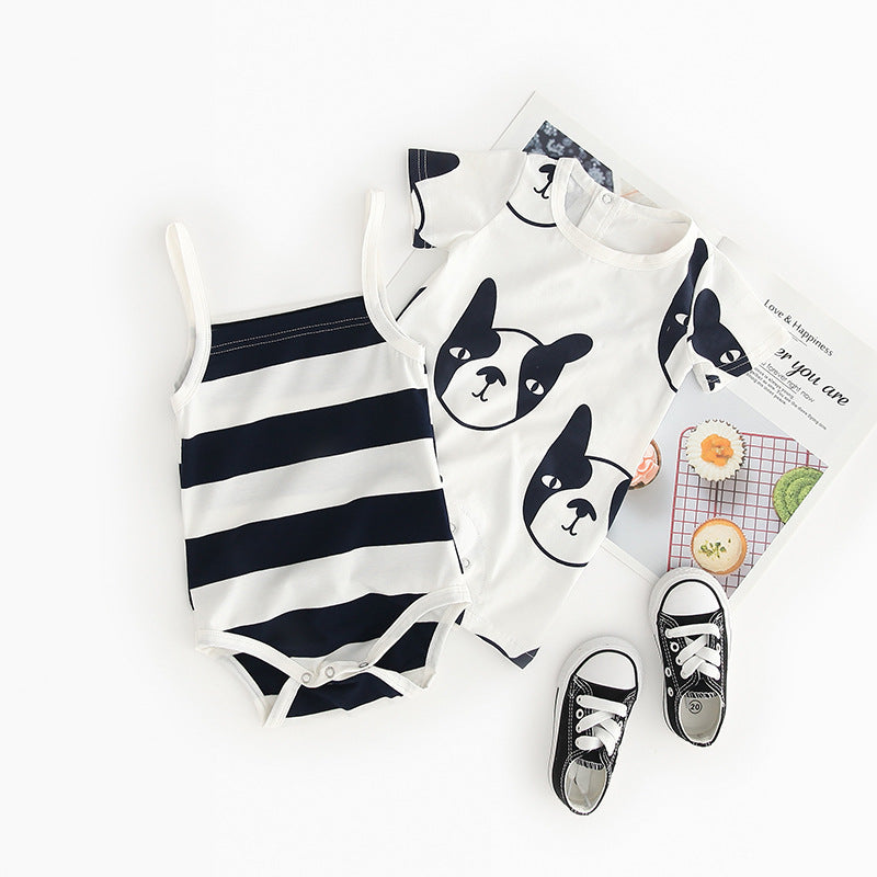 Romper ins baby cartoon