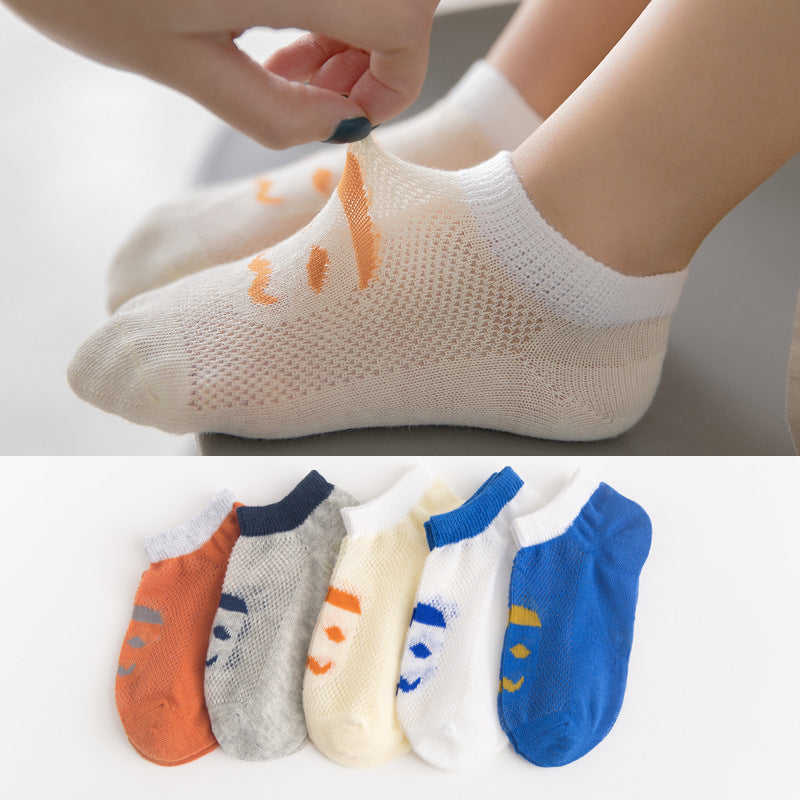 Children's socks mesh striped