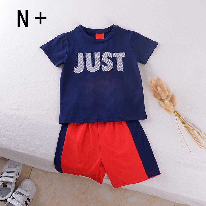 Children's suit short-sleeved printing two-piece suit