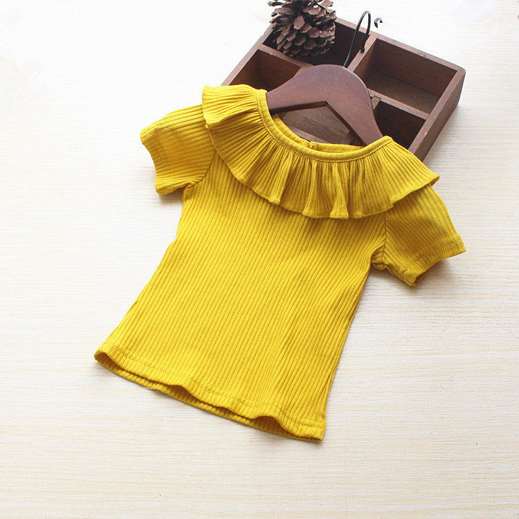 Shirts baby cotton long-sleeved collar lapel