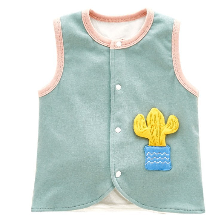 Baby vest cactus pocket cotton
