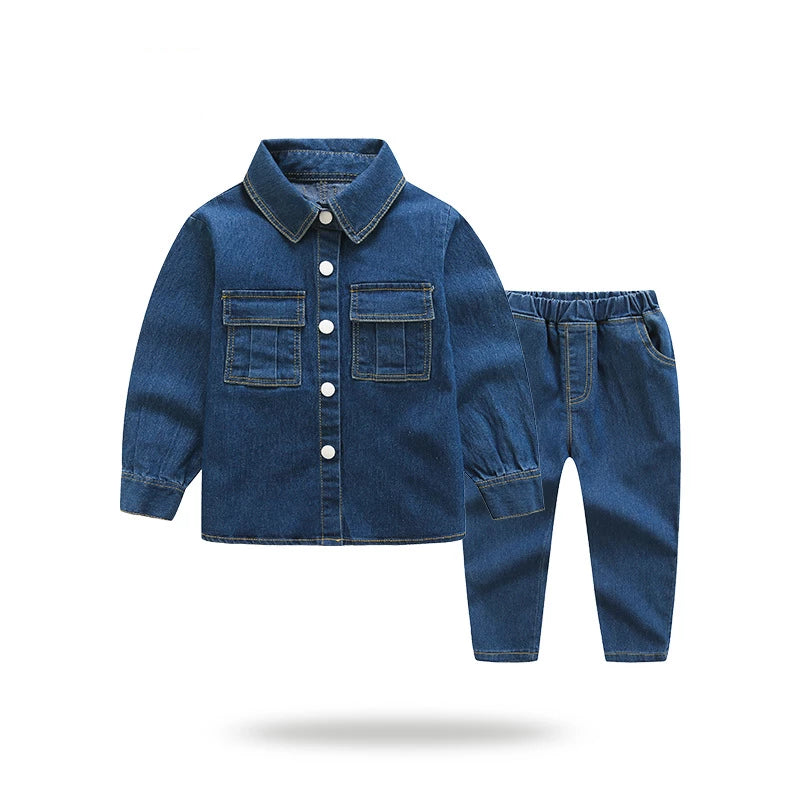 Two-piece set long-sleeved shirt baby cowboy