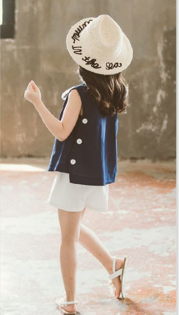 Children's suit clothing sleeveless two-piece