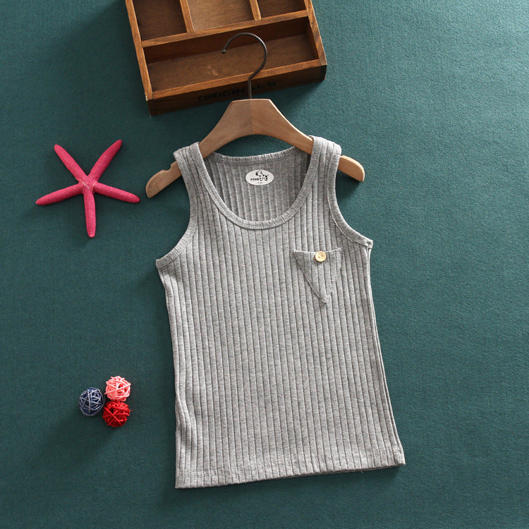 T shirt cotton vest triangle sleeveless