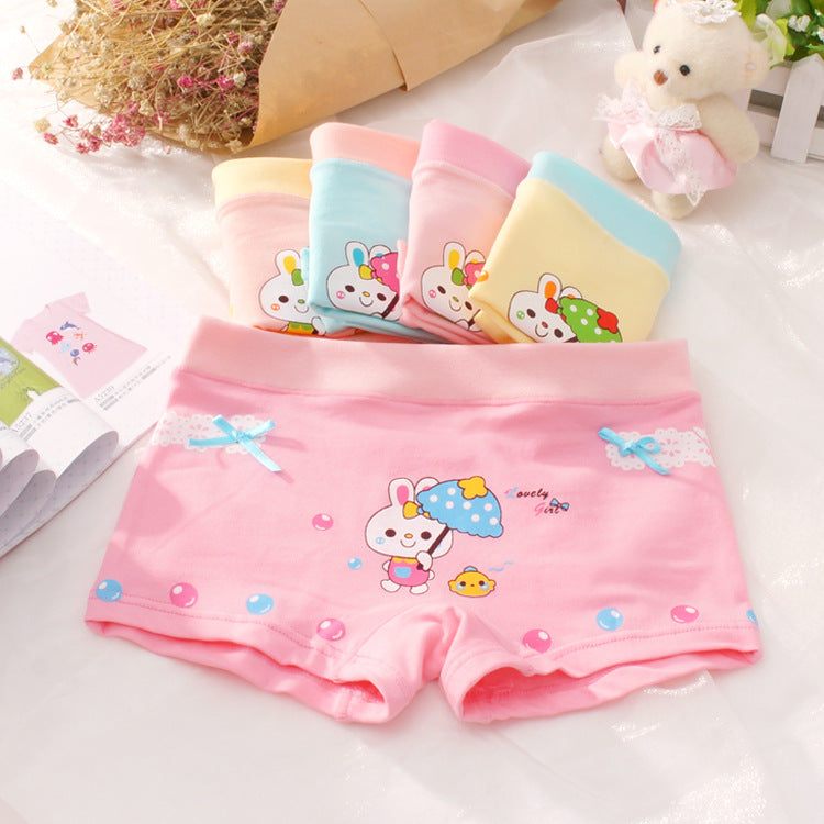 Girls Boxer Briefs Underwear Print Cotton