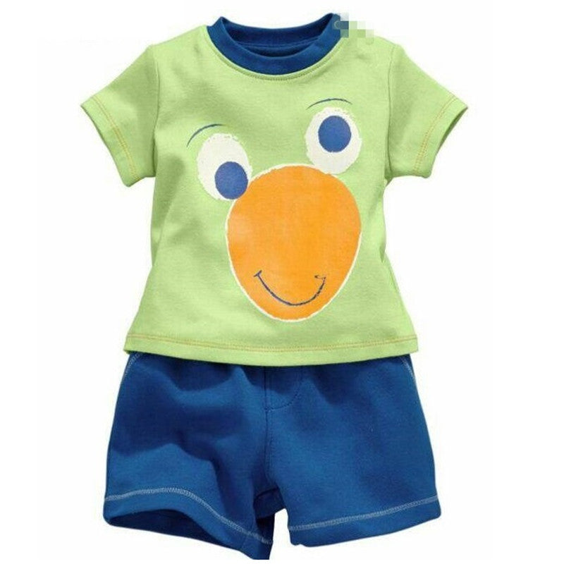 Cartoon pajamas short-sleeved clothes children's