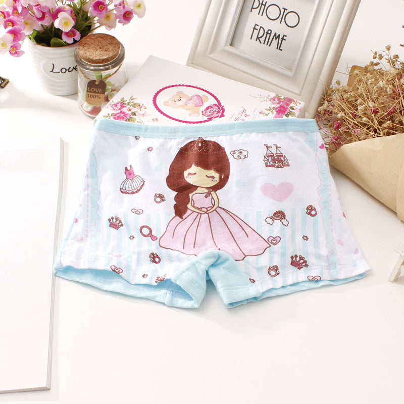 Girls Boxer Briefs Cotton Cartoon