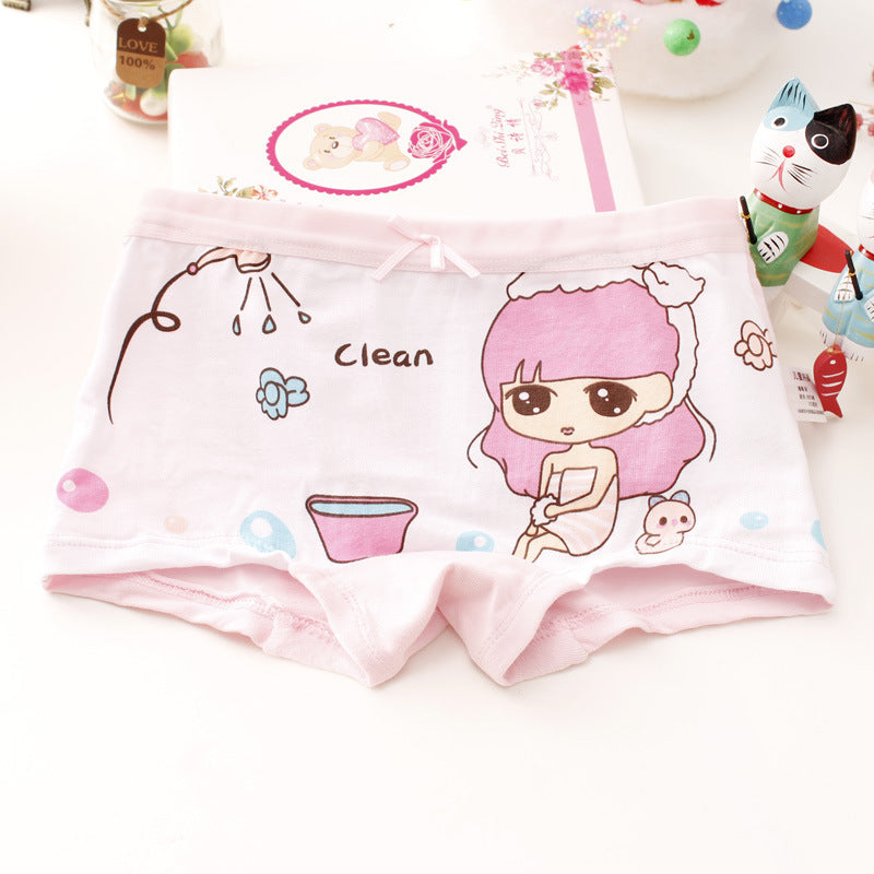 Girls cotton underwear cartoon boxer
